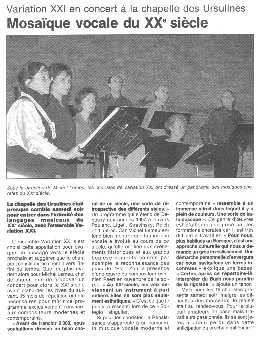 Ouest France - 7/12/1999